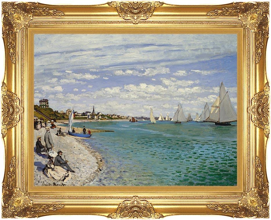 Claude Monet Regatta at Sainte-Adresse with Majestic Gold Frame