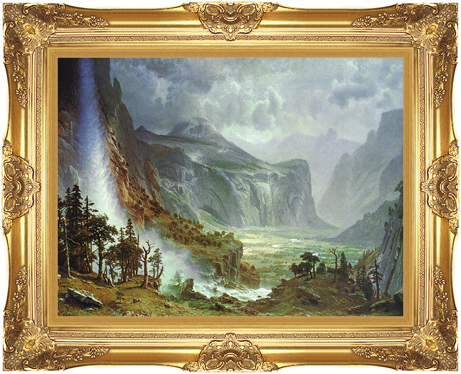 Albert Bierstadt The Domes of the Yosemite with Majestic Gold Frame