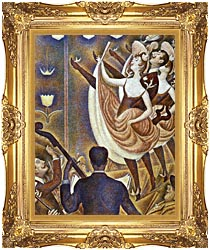 Georges Seurat Le Chahut canvas with Majestic Gold frame