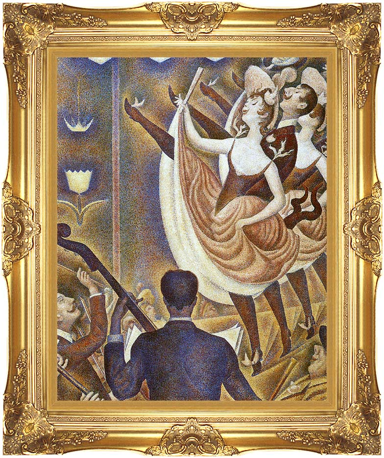 Georges Seurat Le Chahut with Majestic Gold Frame