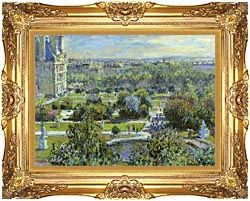 Claude Monet The Tuileries canvas with Majestic Gold frame