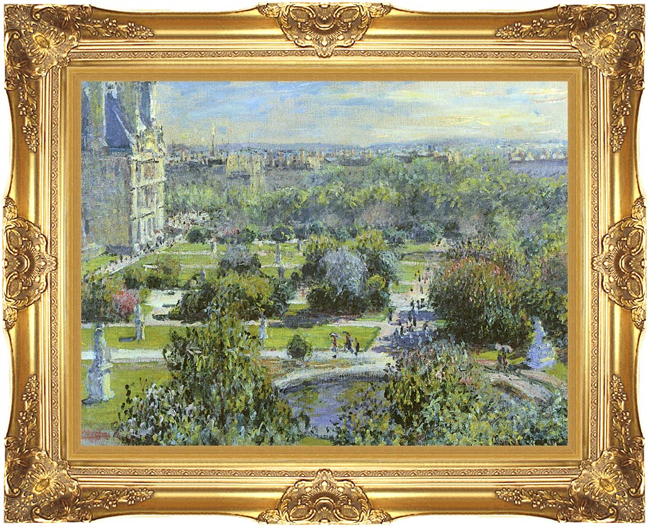 Claude Monet The Tuileries with Majestic Gold Frame