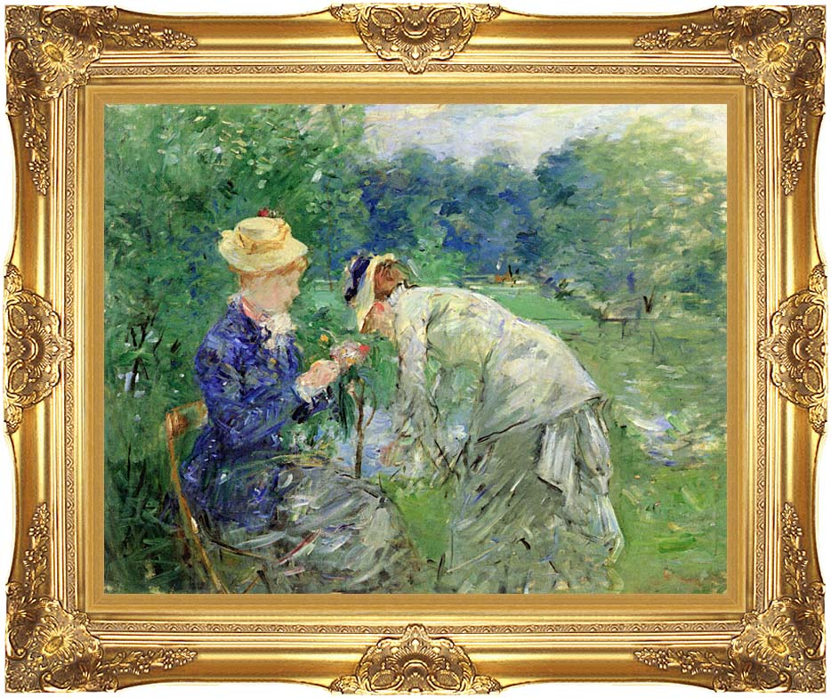 Berthe Morisot In the Garden 1879 with Majestic Gold Frame