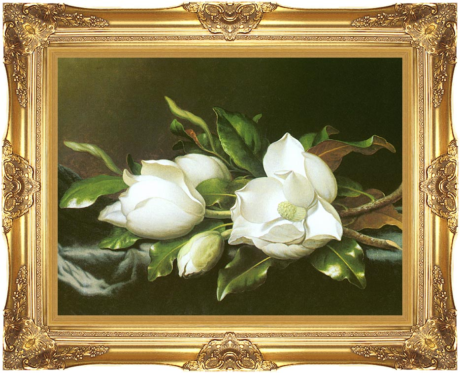 Martin Johnson Heade Magnolias (detail) with Majestic Gold Frame