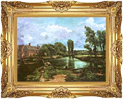 John Constable A Water Mill canvas with Majestic Gold frame