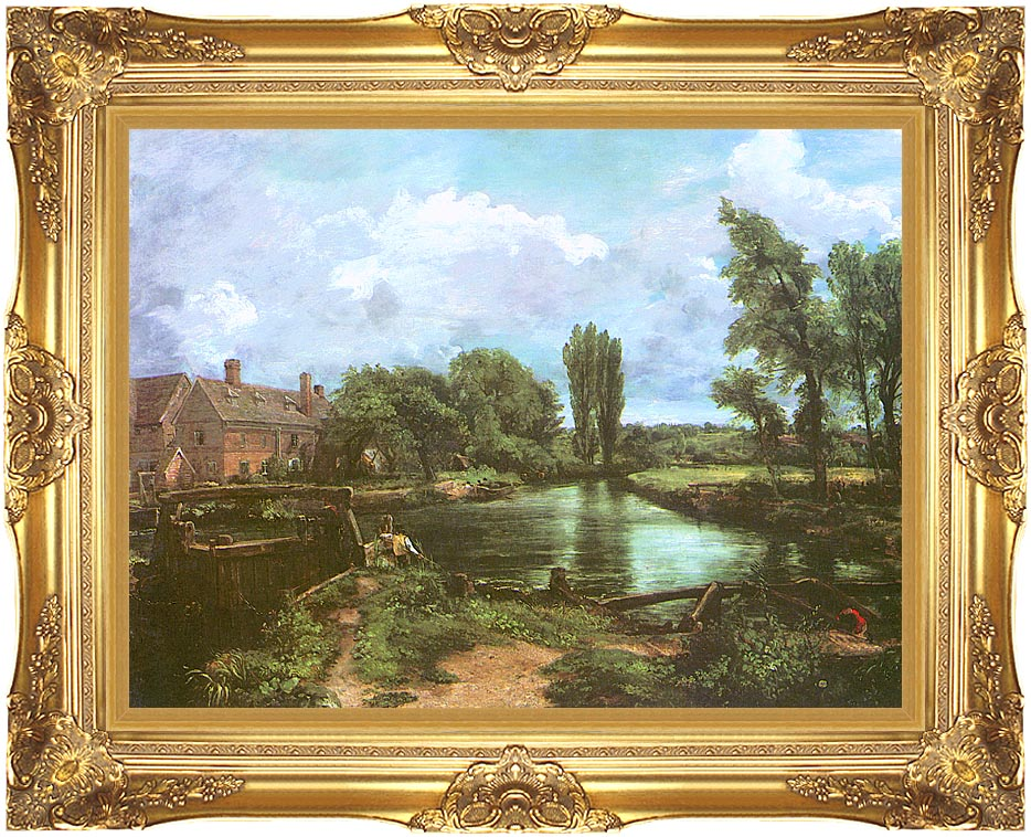 John Constable A Water-Mill with Majestic Gold Frame