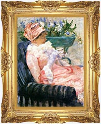 Mary Cassatt The Cup Of Tea canvas with Majestic Gold frame