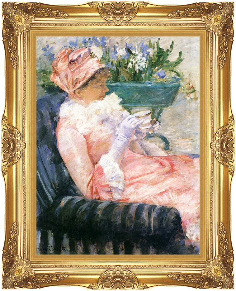 Mary Cassatt The Cup of Tea with Majestic Gold Frame