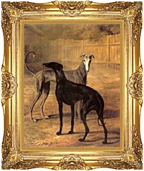 Jacques Laurent Agasse Rolla And Portia canvas with Majestic Gold frame