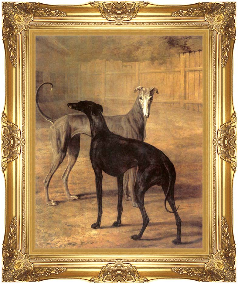 Jacques Laurent Agasse Rolla and Portia with Majestic Gold Frame