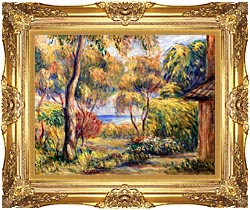 Pierre Auguste Renoir Landscape At Cagnes canvas with Majestic Gold frame