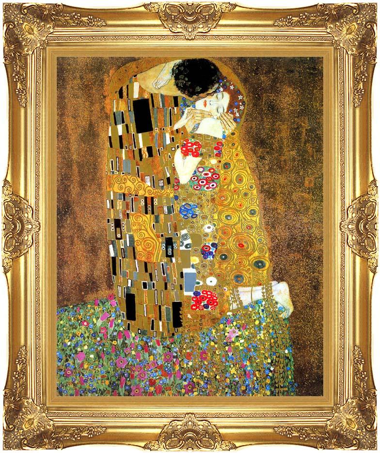 Gustav Klimt The Kiss (detail) with Majestic Gold Frame