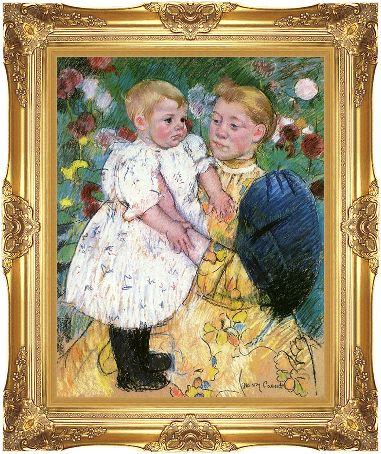 Mary Cassatt In the Garden 1893 with Majestic Gold Frame