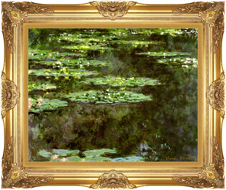 Claude Monet Water-Lilies 1904 (detail) with Majestic Gold Frame