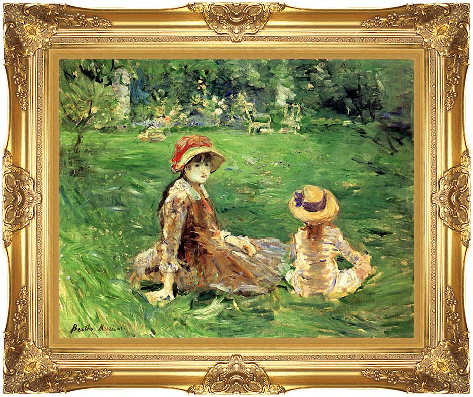 Berthe Morisot In the Garden at Maurecourt with Majestic Gold Frame