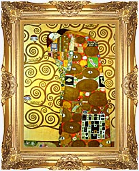 Gustav Klimt Fulfillment Detail canvas with Majestic Gold frame