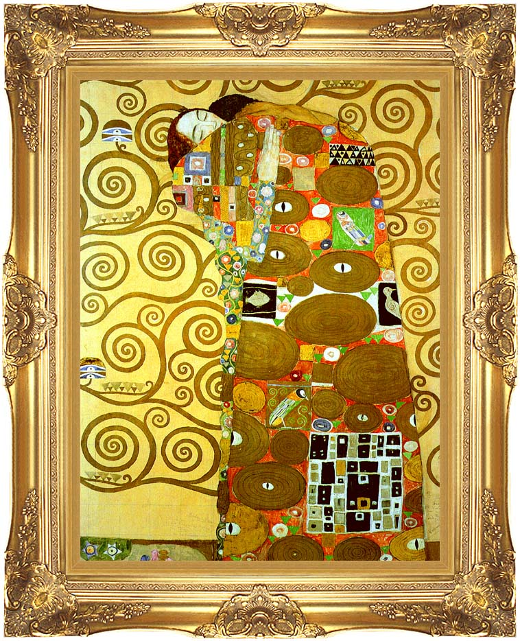 Gustav Klimt Fulfillment (detail) with Majestic Gold Frame