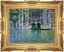 Claude Monet Venice Palazzo Da Mula canvas with Majestic Gold frame