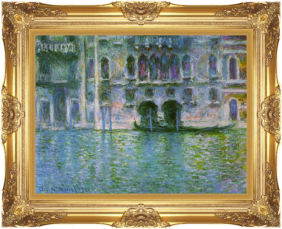 Claude Monet Venice, Palazzo da Mula with Majestic Gold Frame