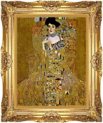 Gustav Klimt Adele Bloch Bauer I Detail canvas with Majestic Gold frame