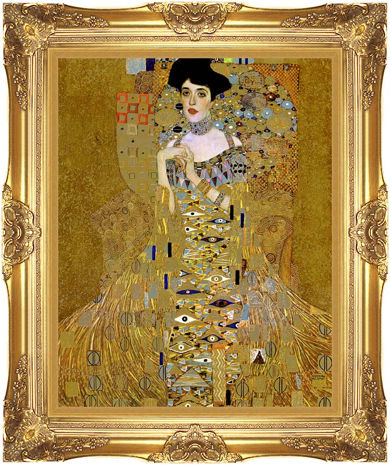 Gustav Klimt Adele Bloch-Bauer I (detail) with Majestic Gold Frame