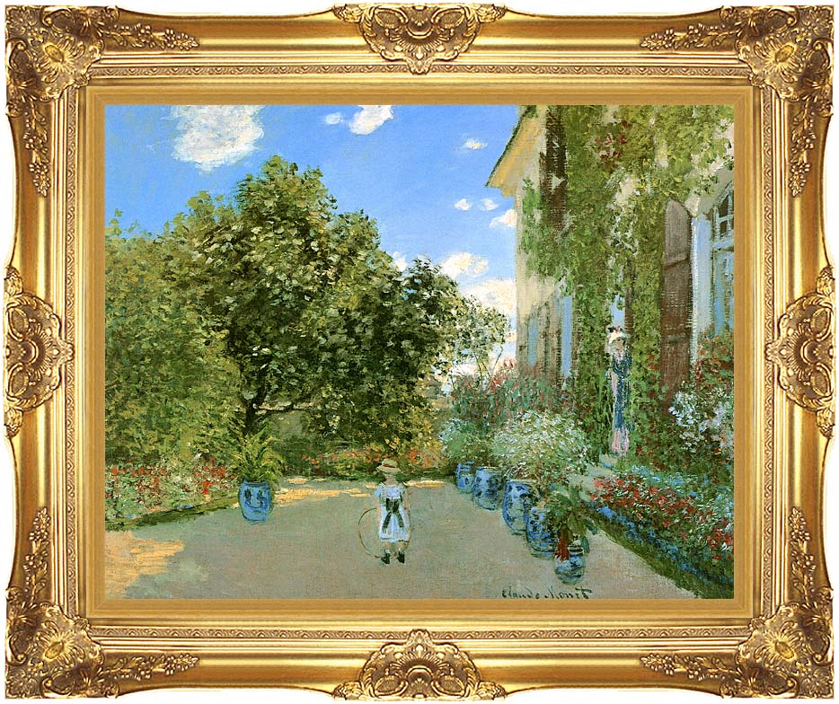 Claude Monet Monet's House at Argenteuil with Majestic Gold Frame