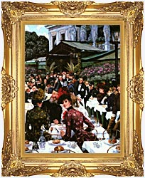 James Tissot The Painters And Their Wives canvas with Majestic Gold frame