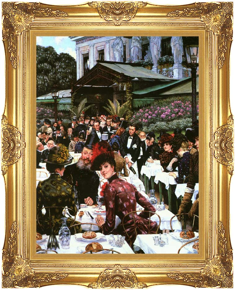 James Tissot The Painters and Their Wives with Majestic Gold Frame