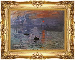 Claude Monet Impression Sunrise canvas with Majestic Gold frame