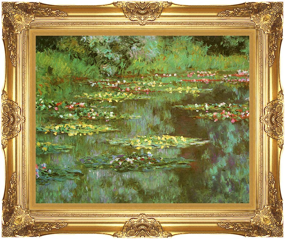 Claude Monet Nympheas 1906 (detail) with Majestic Gold Frame