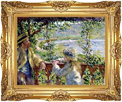 Pierre Auguste Renoir By The Lake canvas with Majestic Gold frame