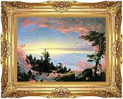Frederic Edwin Church Above The Clouds At Sunrise canvas with Majestic Gold frame