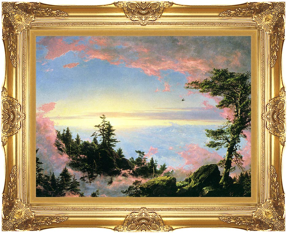 Frederic Edwin Church Above the Clouds at Sunrise with Majestic Gold Frame