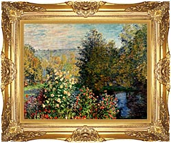 Claude Monet Corner Of A Garden At Montgeron canvas with Majestic Gold frame