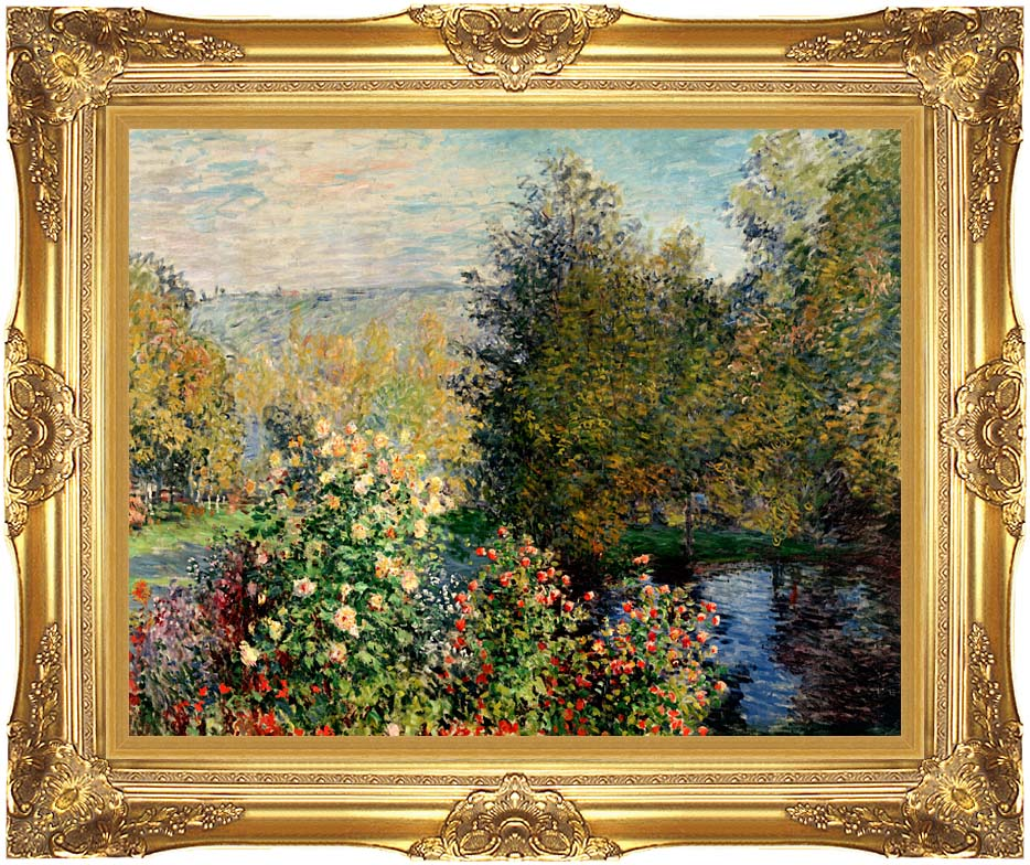 Claude Monet Corner of a Garden at Montgeron with Majestic Gold Frame
