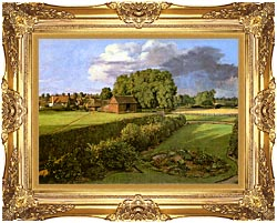 John Constable Golding Constables Flower Garden canvas with Majestic Gold frame