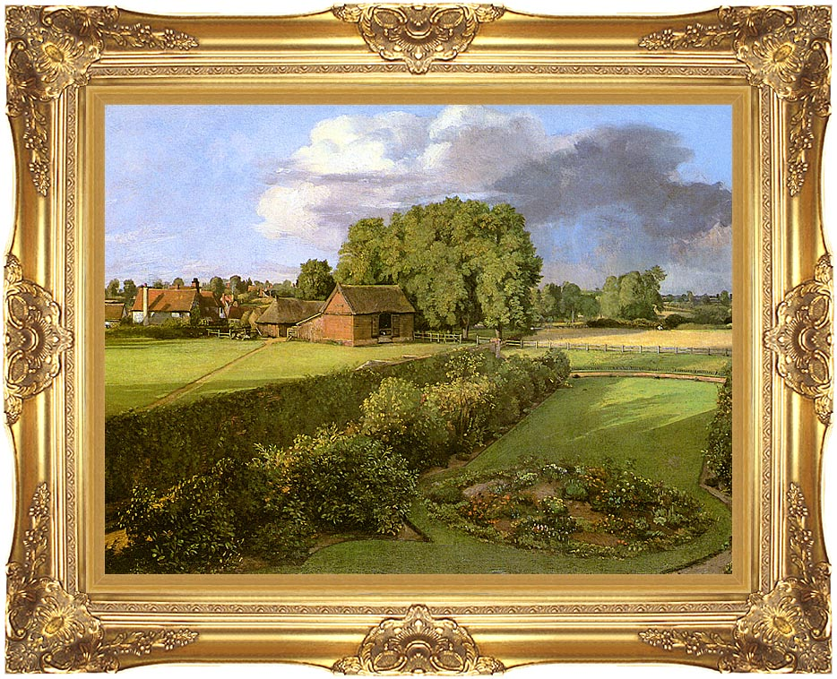 John Constable Golding Constable's Flower Garden with Majestic Gold Frame