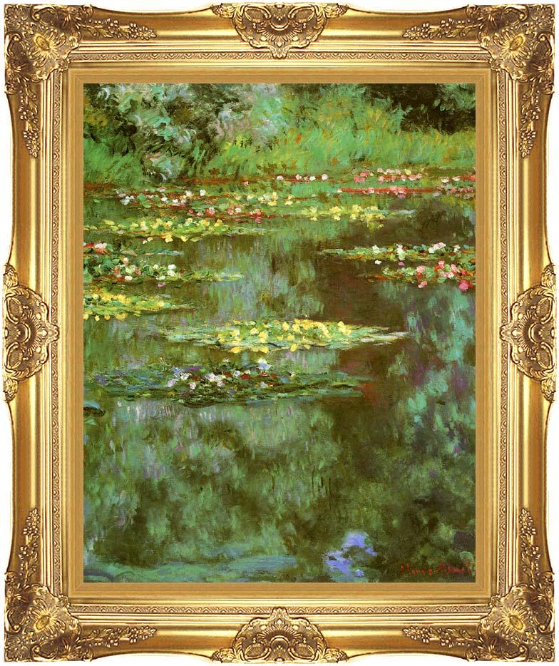 Claude Monet Nympheas 1906 (portrait detail) with Majestic Gold Frame