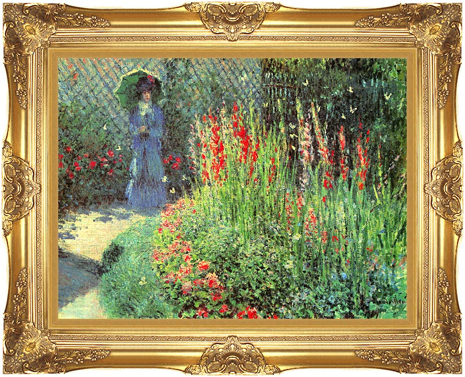Claude Monet Gladioli with Majestic Gold Frame