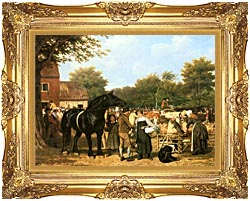 Jacques Laurent Agasse The Country Fair canvas with Majestic Gold frame