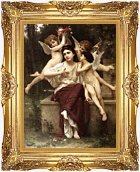 William Bouguereau A Dream Of Spring canvas with Majestic Gold frame