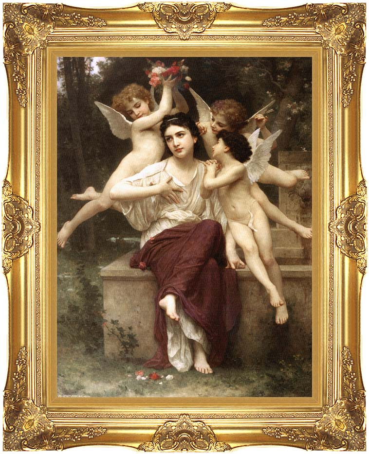 William Bouguereau A Dream of Spring with Majestic Gold Frame