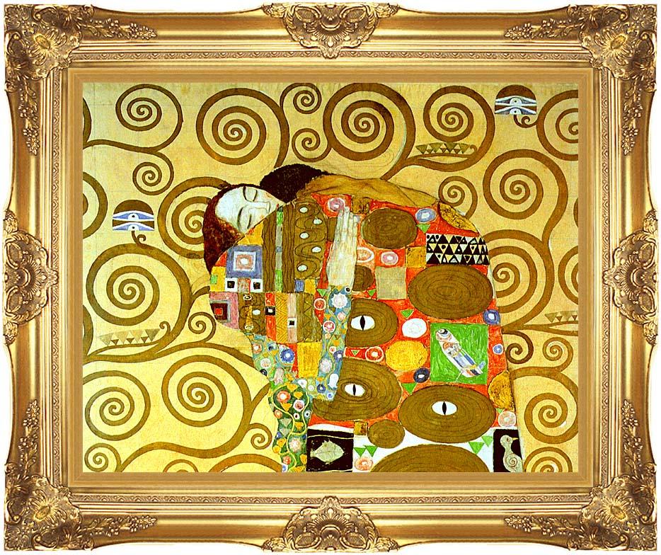 Gustav Klimt Fulfillment (close-up detail) with Majestic Gold Frame