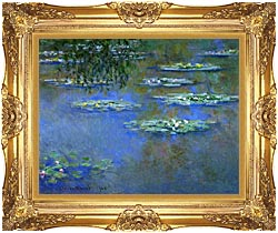 Claude Monet Water Lilies 1903 canvas with Majestic Gold frame