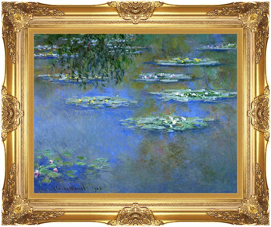 Claude Monet Water Lilies 1903 with Majestic Gold Frame