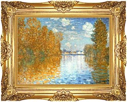 Claude Monet The Seine At Argenteuil Autumn Effect canvas with Majestic Gold frame
