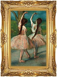 Edgar Degas Dancers In Pink canvas with Majestic Gold frame
