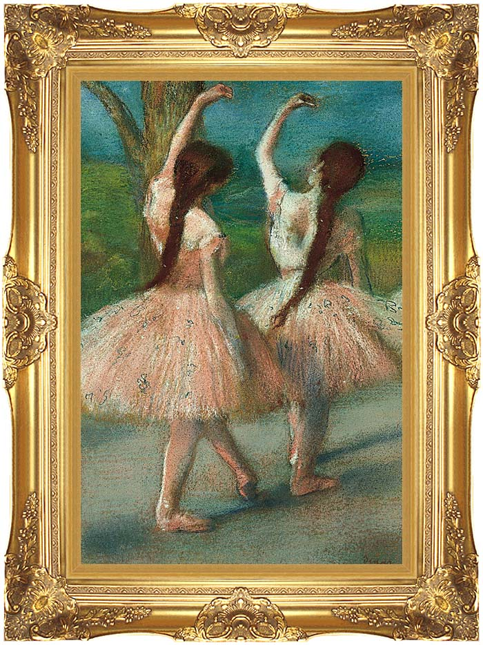 Edgar Degas Dancers in Pink with Majestic Gold Frame