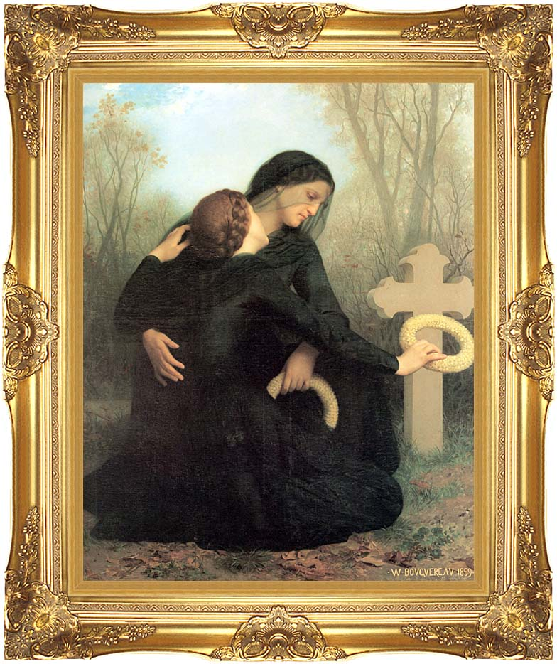 William Bouguereau All Saint's Day with Majestic Gold Frame