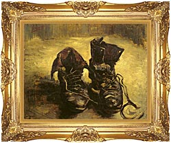 Vincent Van Gogh A Pair Of Shoes 1886 canvas with Majestic Gold frame